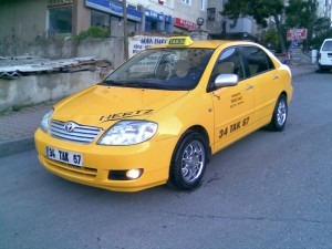 Toyota такси в Гонконге