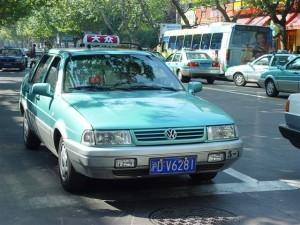 VW Jetta такси в Шанхае