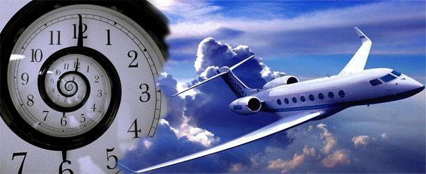 Время полета до Чехии