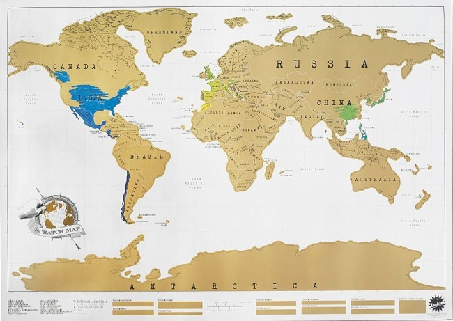 Карта мира сувенирная