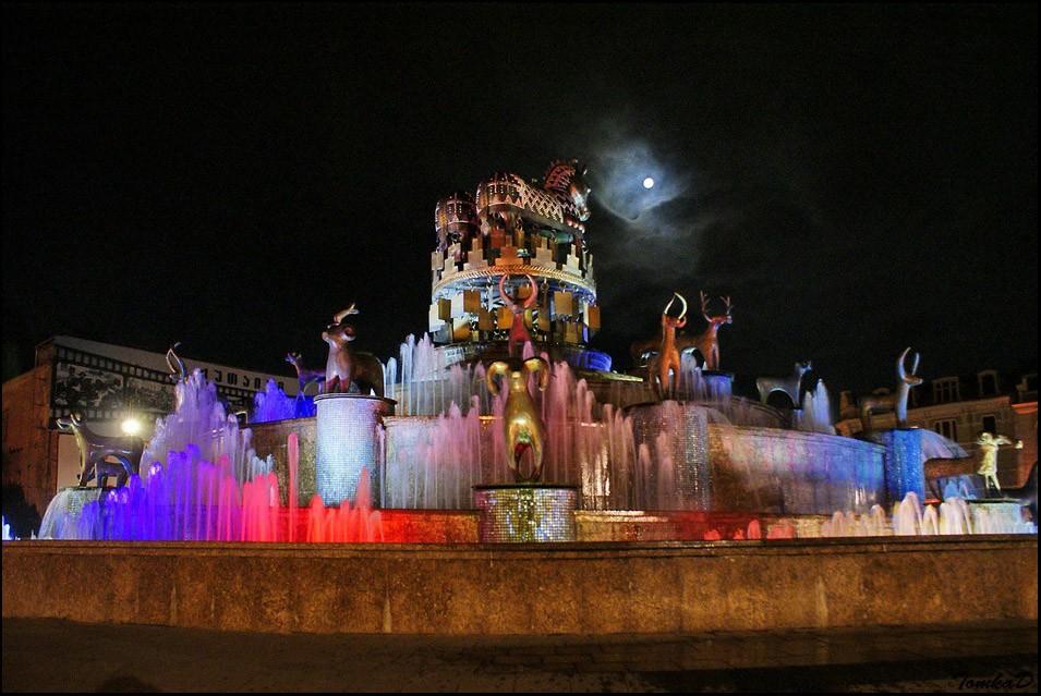Колхидский фонтан ночью